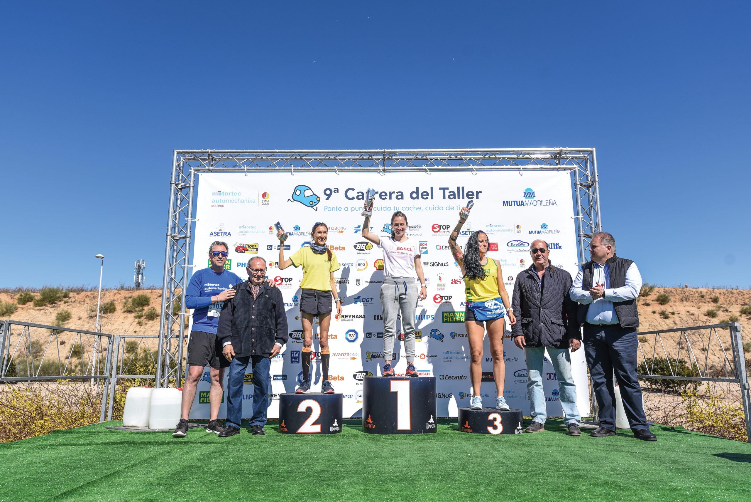Podium 5K femenino 9aCarrera del Taller